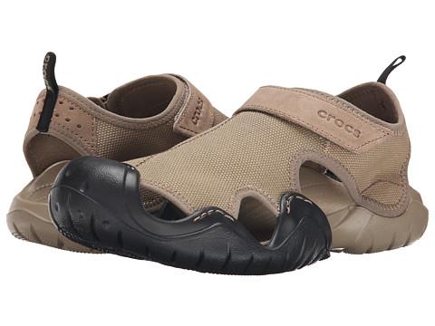 Crocs - Swiftwater Canvas Sandal M (Khaki/Black) Men