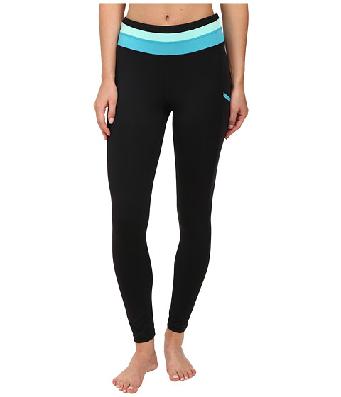 Fila - With The Band Tights (Black/Bright Teal/Aqua) Women's Casual Pants