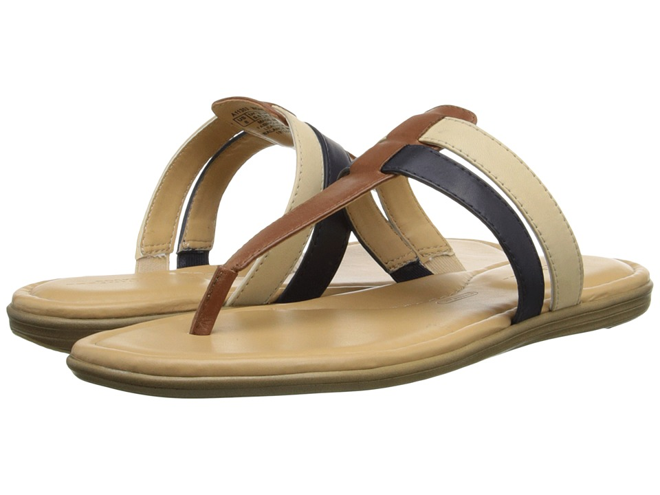 Rockport - Jeanie Double Strap Thong (Tan/Navy/Cream) Women's Shoes