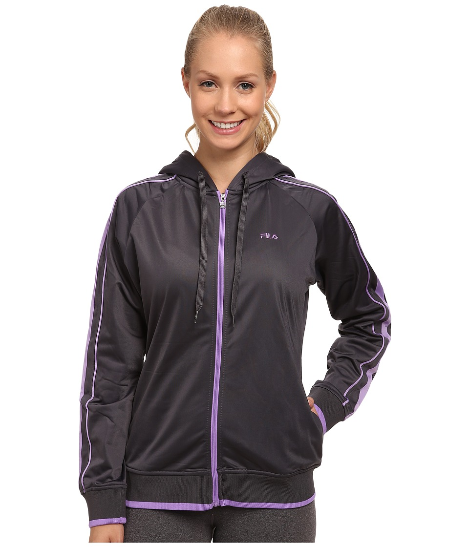Fila - On Track Hoodie (Nine Iron/Lavender Lady) Women's Sweatshirt