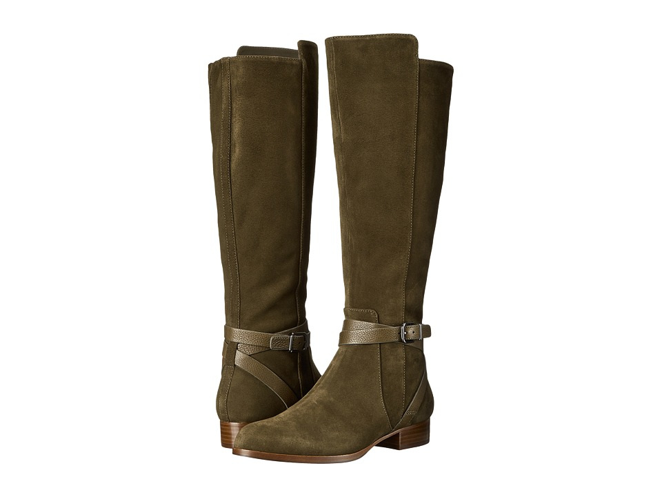 Via Spiga - Prish (Military/Military Sport Suede/Toledo Tumbled Calf) Women's Boots