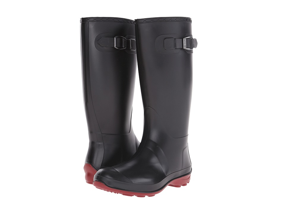 Kamik - Olivia (Black/Brick Red Sole) Women's Rain Boots