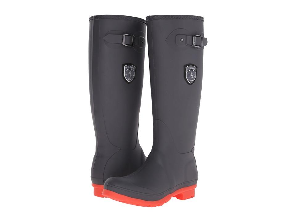 Kamik - Jennifer (Charcoal/Coral) Women's Rain Boots