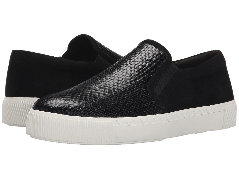 Via Spiga - Maliah (Black/Black Shiny Land Snake/Kid Suede) Women's Slip on Shoes