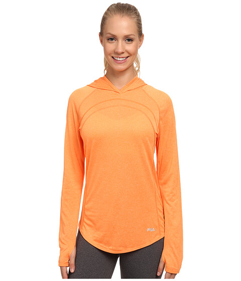 Fila - Heather Hoodie (Orange Pop Heather/Varsity Heather) Women's Sweatshirt