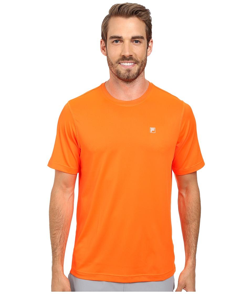 Fila - Sport Tech Tee (Shocking Orange) Men's T Shirt