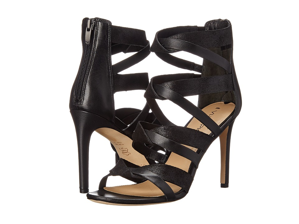 Via Spiga Elyse (Black/Black Nappa/Glitter Suede) High Heels