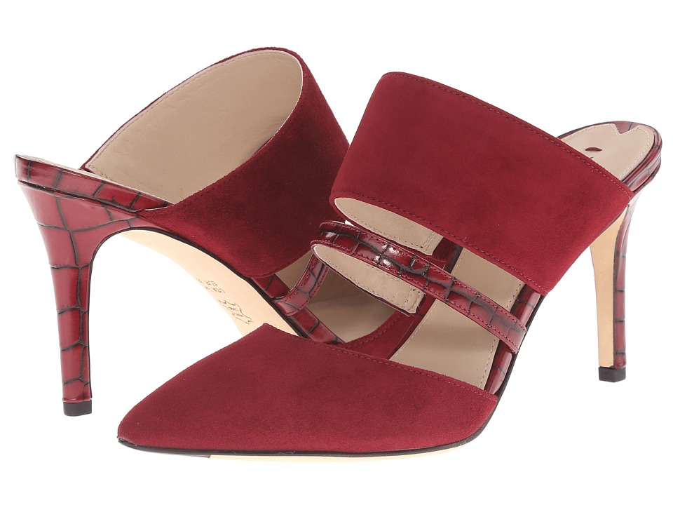 Via Spiga - Coralia (Bordeaux/Merlot Kid Suede/Tobarra Croc Print) High Heels