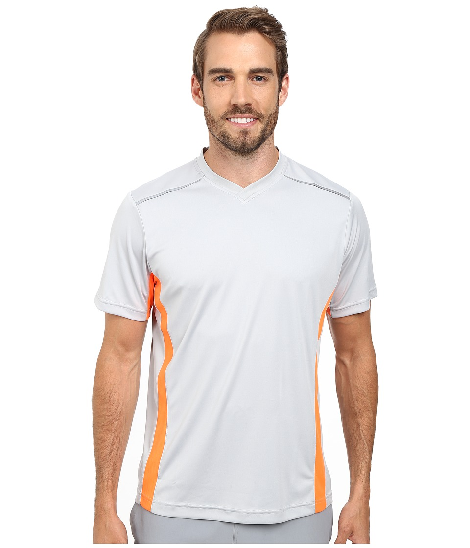 Fila - Sweet Spot V-Neck (High Rise/Navy Power/Shocking Orange) Men's Clothing