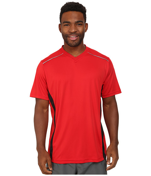 Fila - Sweet Spot V-Neck (Chinese Red/Black/Electric Green) Men