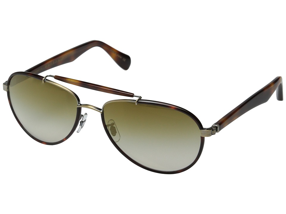 Oliver Peoples - Charter (Pico/Bronze Flash Mirror) Fashion Sunglasses