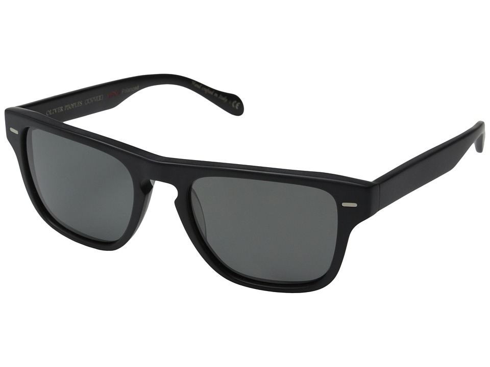 Oliver Peoples - Strathmore (Semi/Matte Black/Graphite Polarized Vfx+) Fashion Sunglasses