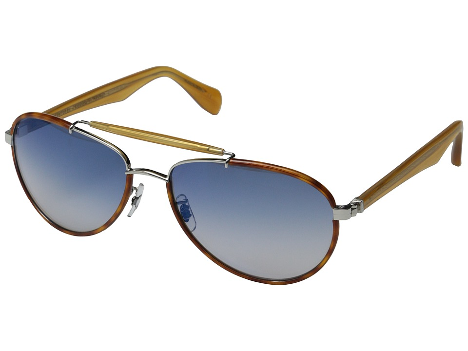 Oliver Peoples - Charter (Roman/Blue Gradient Mirror) Fashion Sunglasses