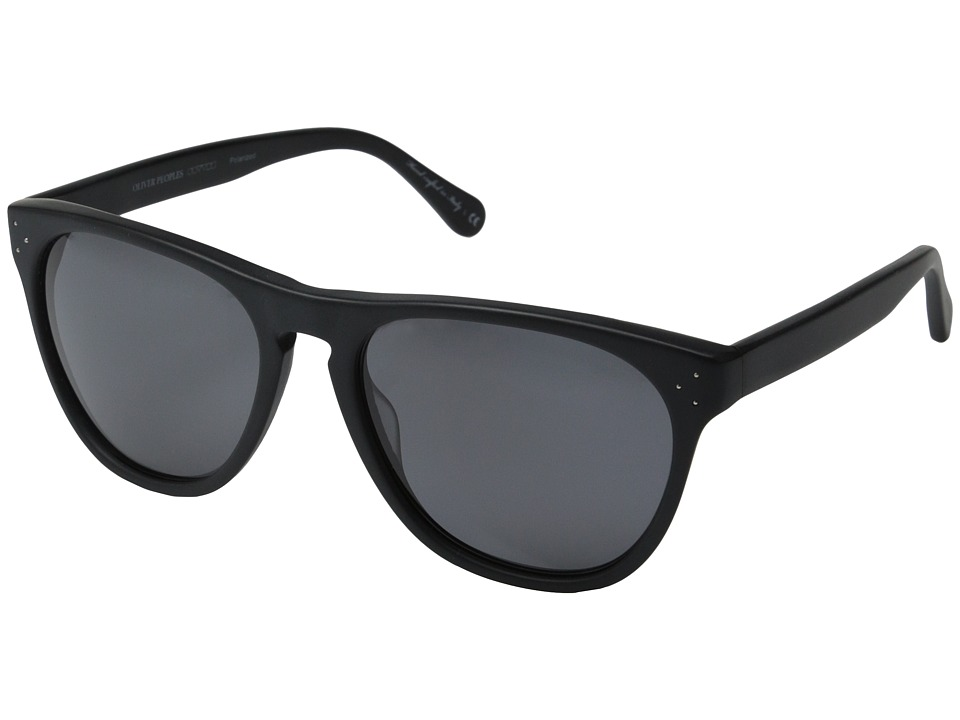 Oliver Peoples - Daddy B (Matte Black/Grey Polarized) Fashion Sunglasses
