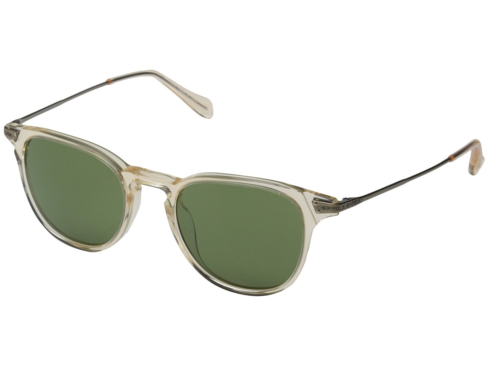 Oliver Peoples - Ennis Sun (Buff/Antique Gold/Green C) Fashion Sunglasses
