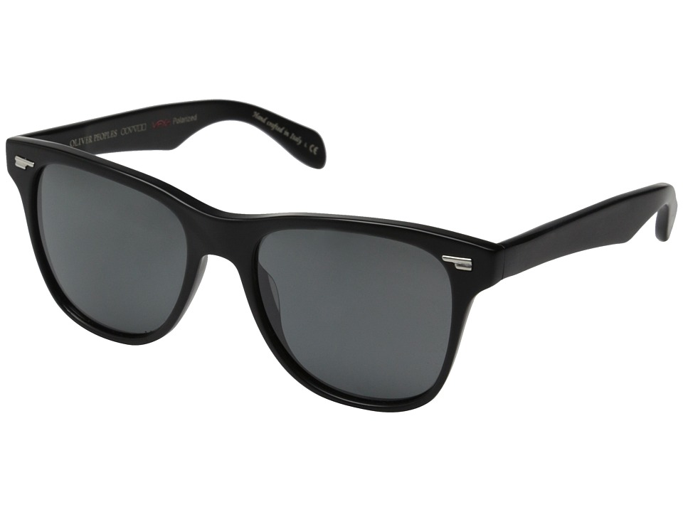 Oliver Peoples - Lou (Semi/Matte Black/Graphite Polarized Vfx+) Fashion Sunglasses