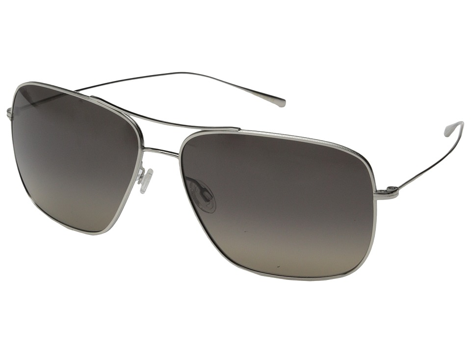 Oliver Peoples - Berenson (Silver/Lover Soul Gradient Polarized) Fashion Sunglasses