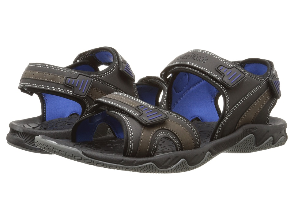 Maine Woods - Eagle (Black/Blue) Men's Sandals