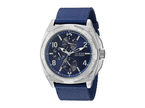 GUESS - U0680G2 (Silver/Blue) Sport Watches