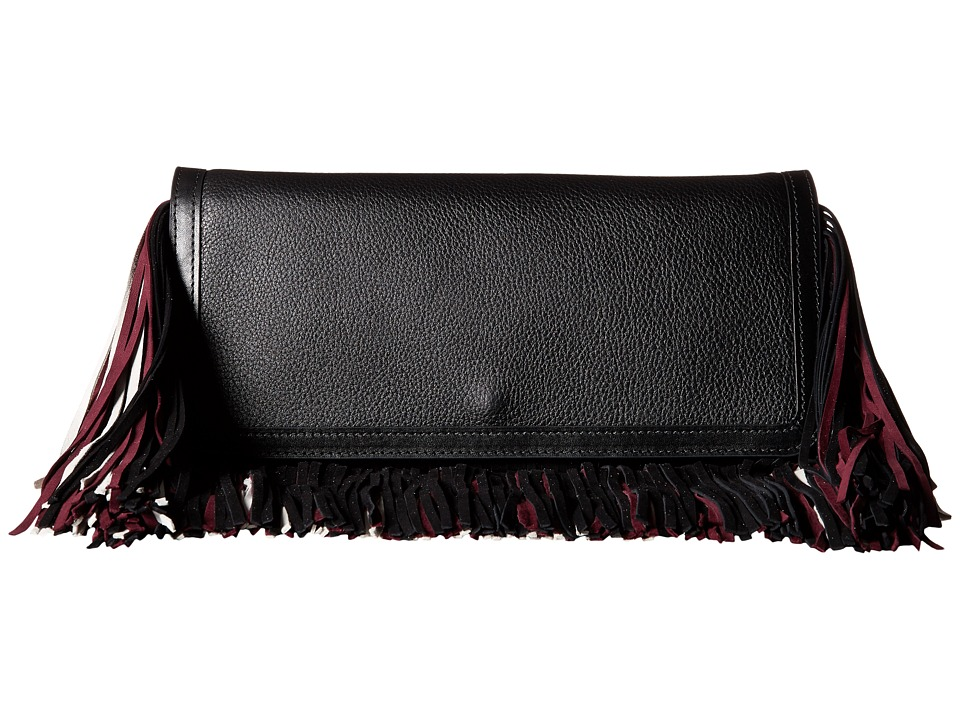 Sam Edelman - Fifi Clutch (Black/Sangria/Modern Ivory) Clutch Handbags