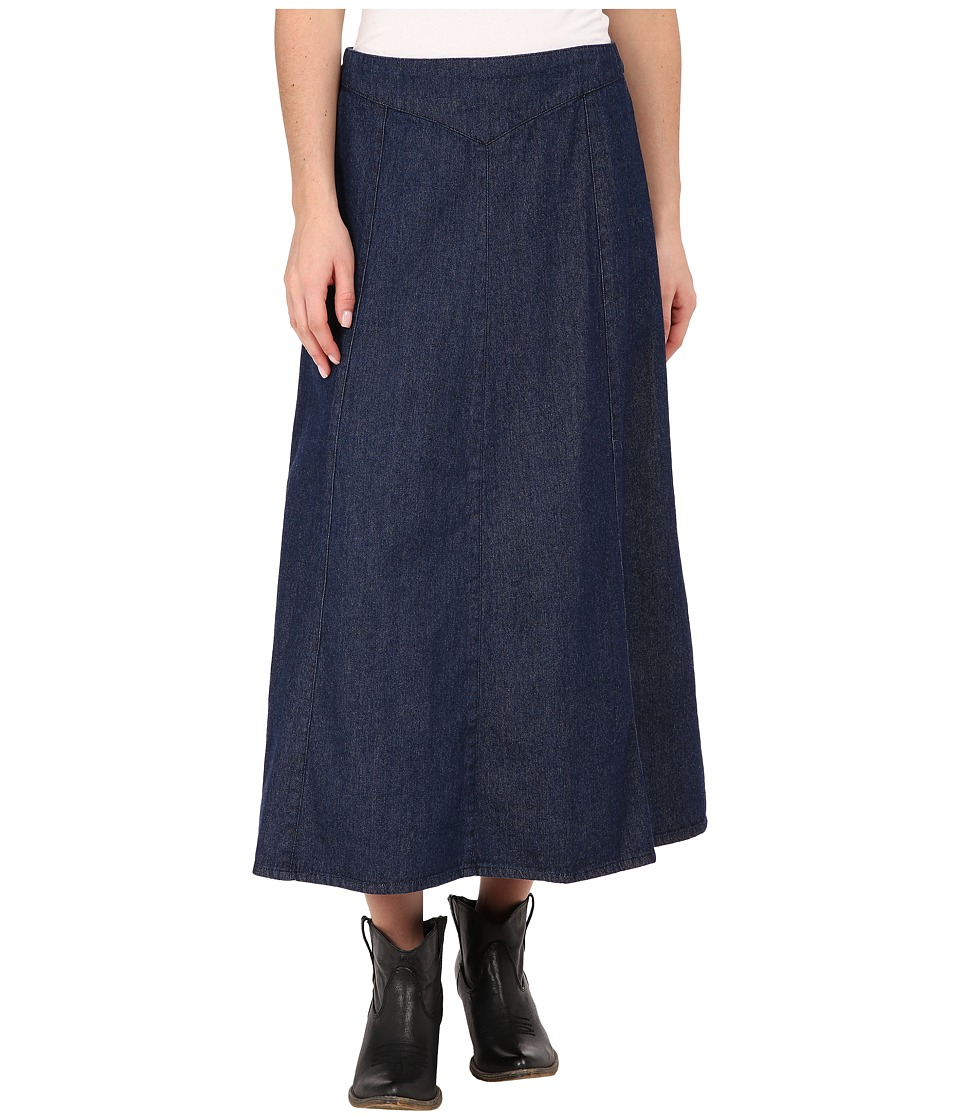 Roper - 0023 7.5 Oz Indigo Stretch Denim Skirt (Blue) Women's Skirt