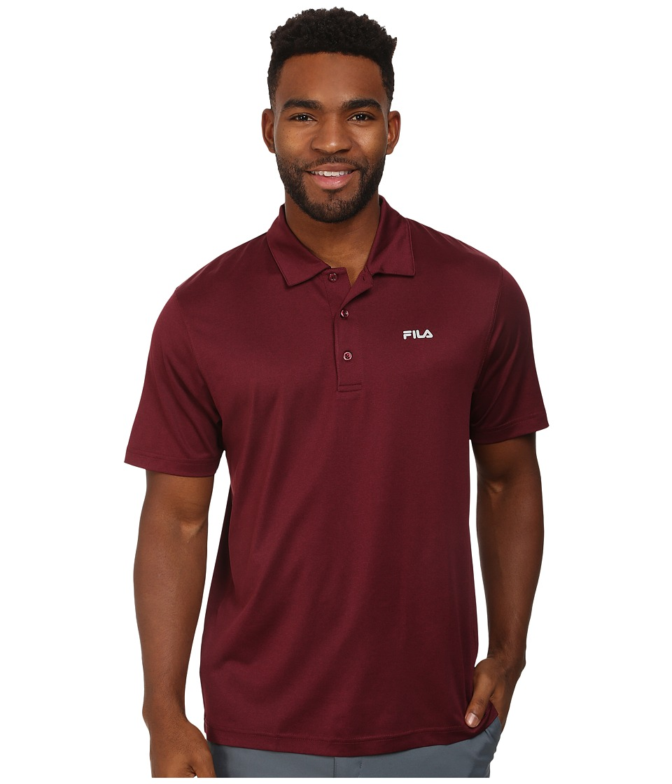 Fila - Performance Heather Polo (Zinfandel) Men's Short Sleeve Pullover