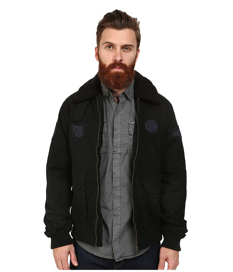 Mavi Jeans - Fur Collar Jacket (Black) Men's Coat