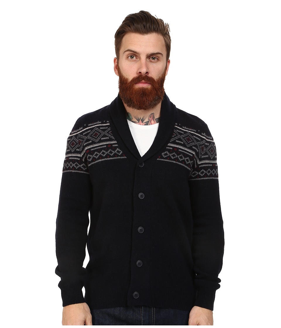 Mavi Jeans - Shawl Front Cardigan (Black) Men