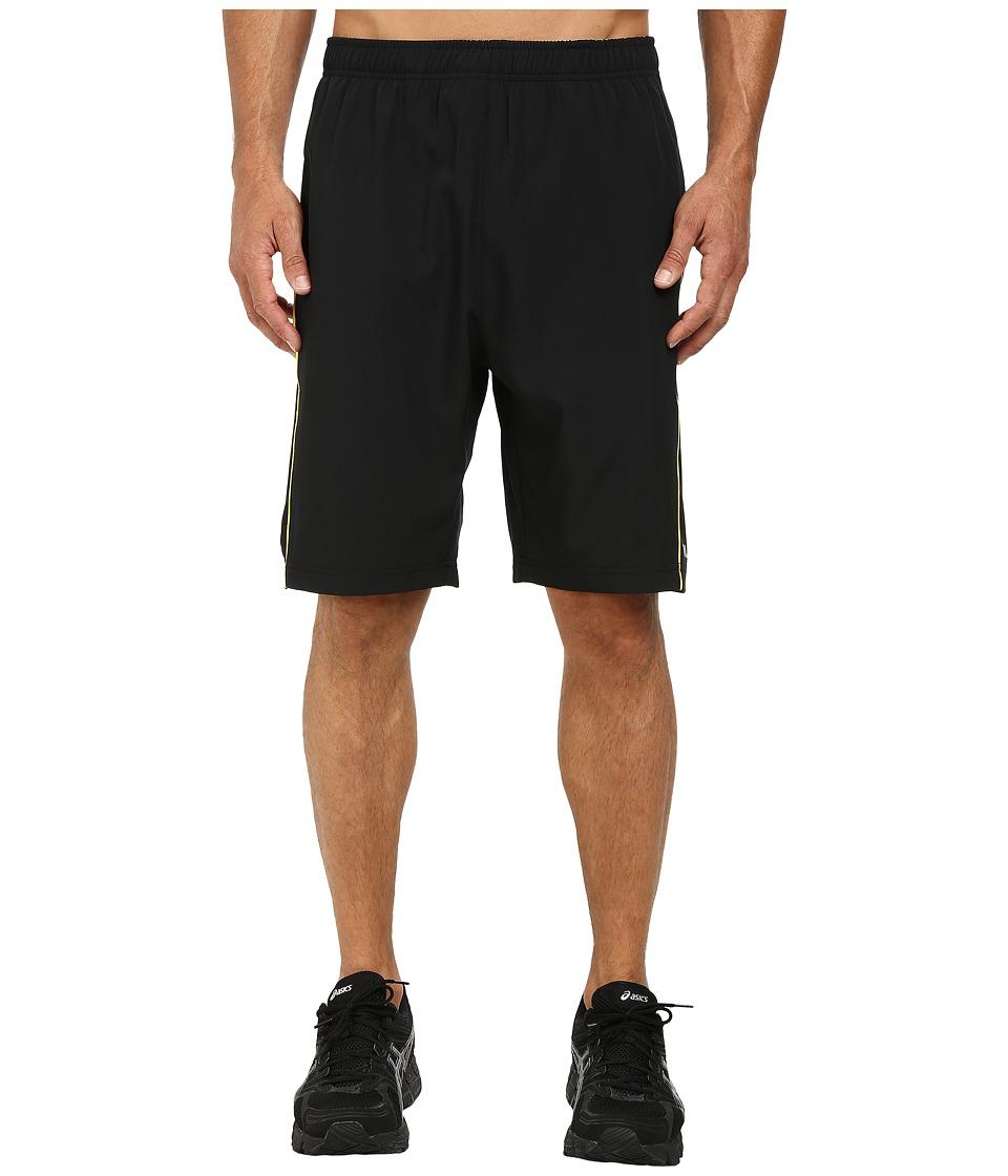 Fila - Woven Piped Shorts (Black/Blazing Yellow) Men's Shorts