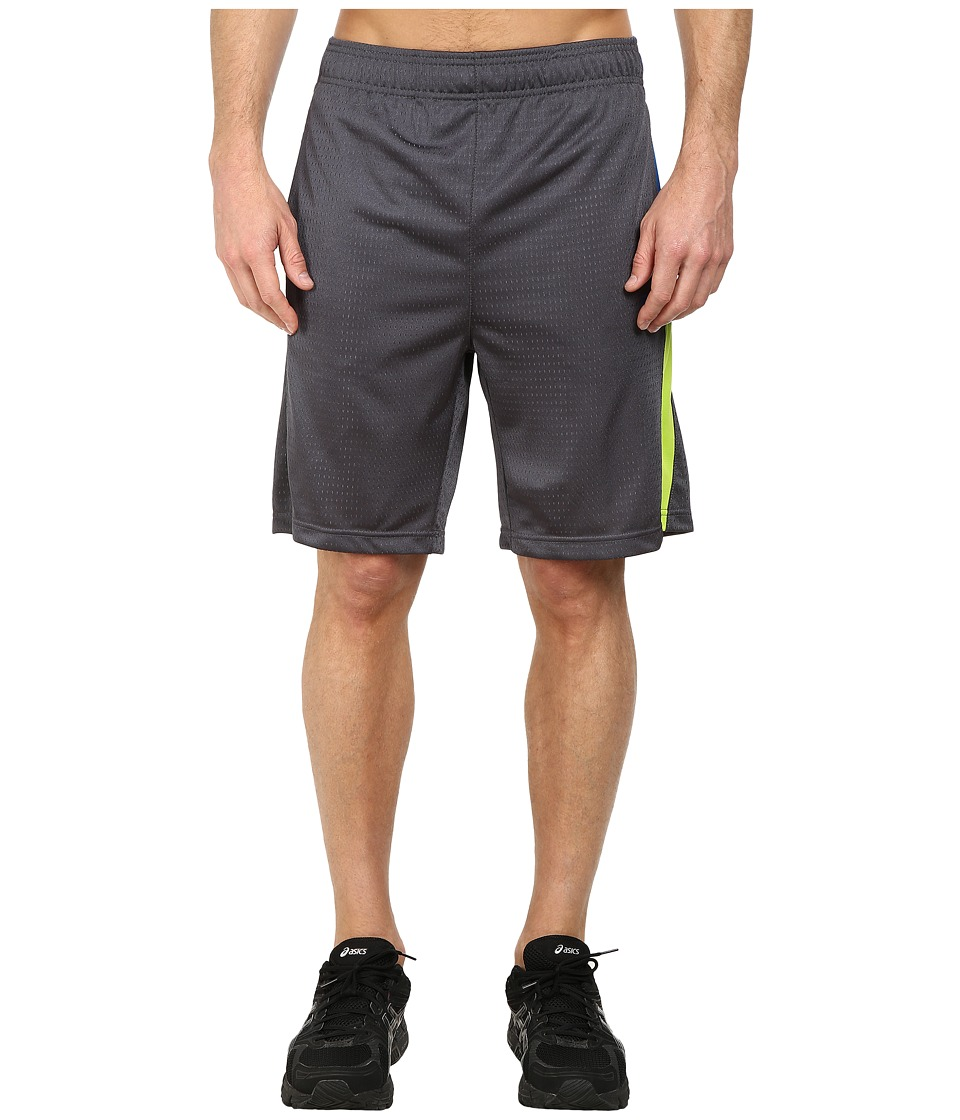 Fila - Tricolor Shorts (Slate Grey/Electric Blue/Lime Green) Men's Shorts