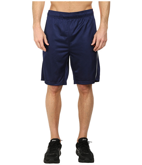 Fila - Tricolor Shorts (Navy Power/Shocking Orange/White) Men