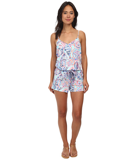 Lilly Pulitzer - Dusk Romper (Multi Shell Me About It Engineered) Women