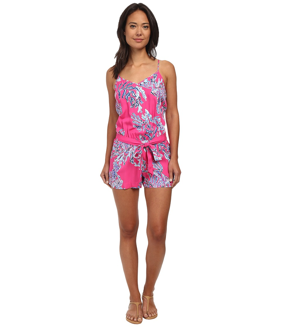 Lilly Pulitzer - Dusk Romper (Capri Pink Samba) Women's Jumpsuit & Rompers One Piece