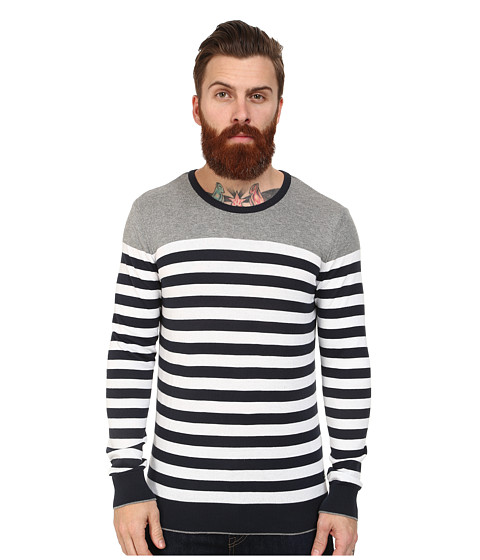 Mavi Jeans - Striped Sweater (Black Grey Striped) Men's Sweater