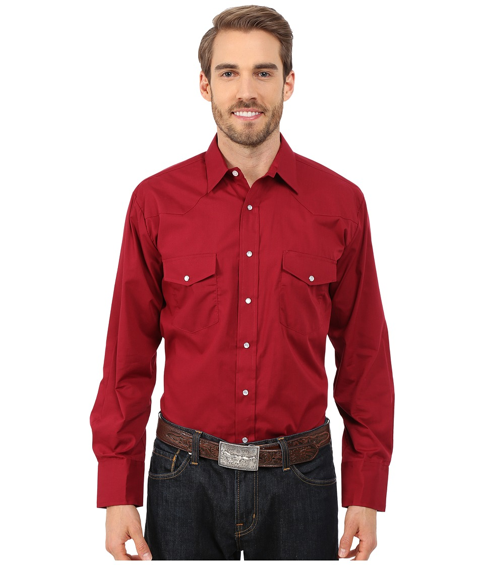 Roper - 0145 Solid Broadcloth (Wine) Men