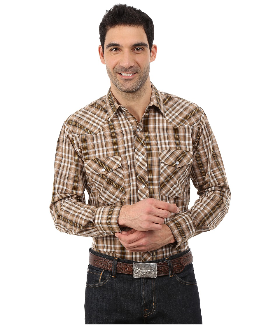 Roper - 0100 Khaki Plaid (Brown) Men's Clothing