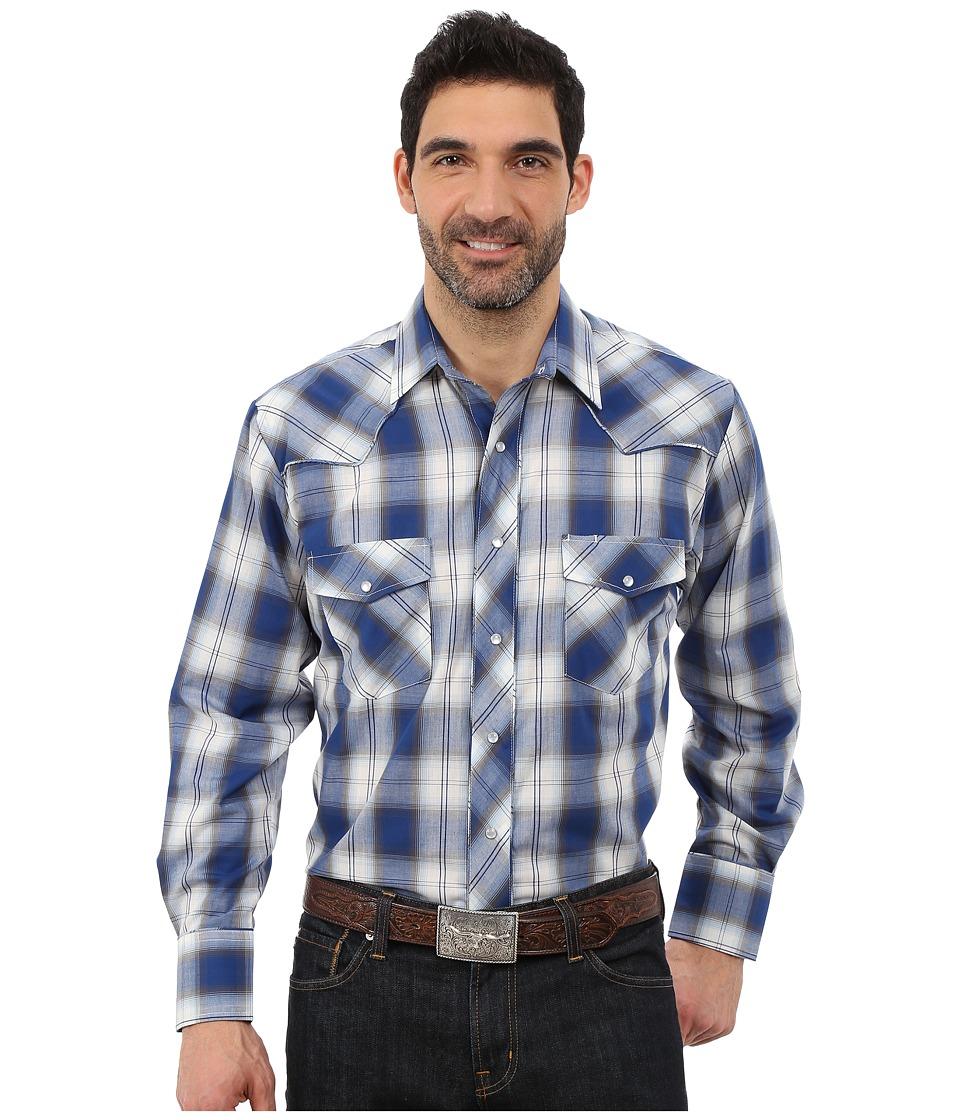 Roper - 0090 Blue White Plaid (Blue) Men's Clothing