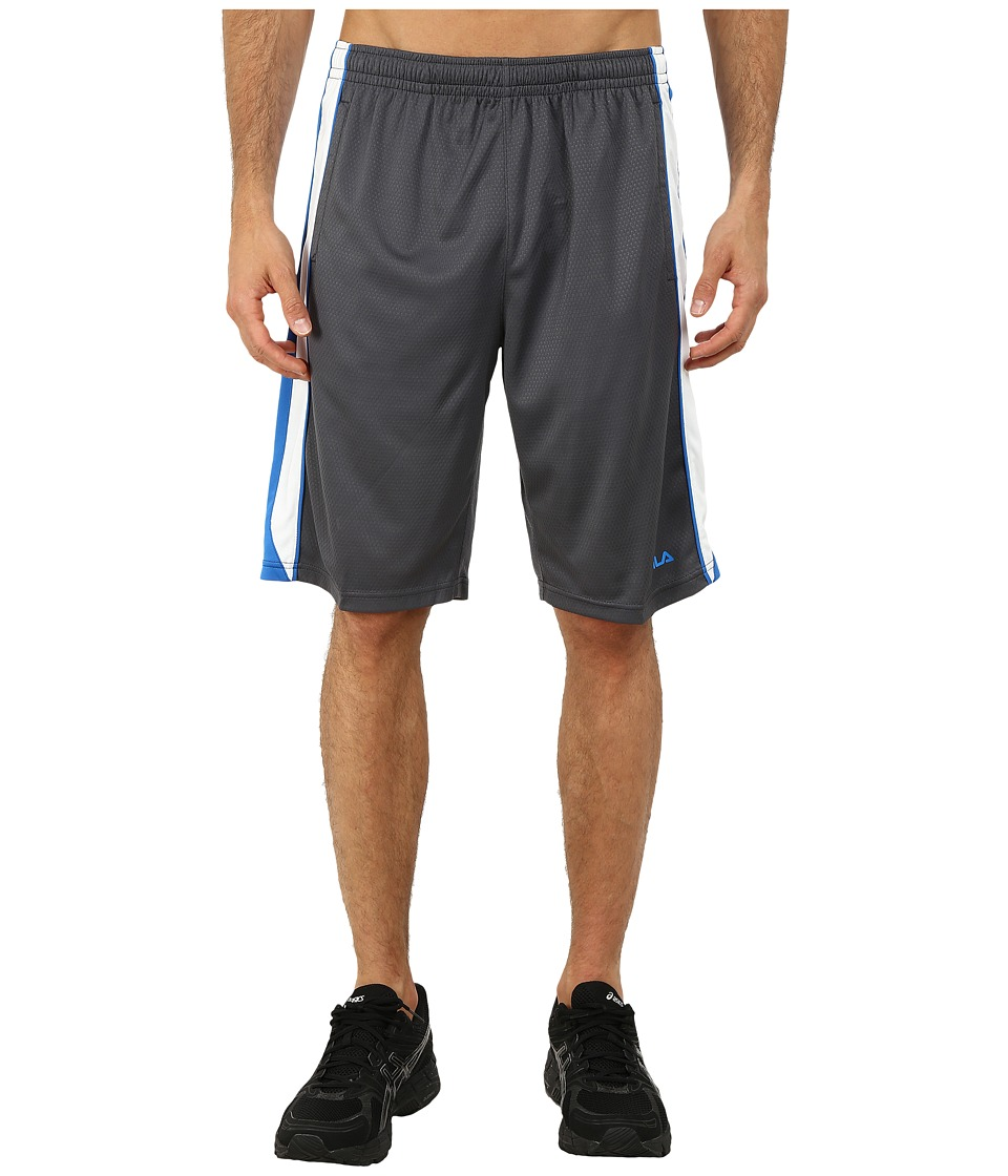 Fila - Brick Training Shorts (Slate Grey/Electric Blue/White) Men's Shorts