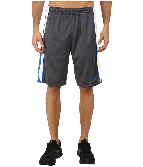 Fila - Brick Training Shorts (Slate Grey/Electric Blue/White) Men