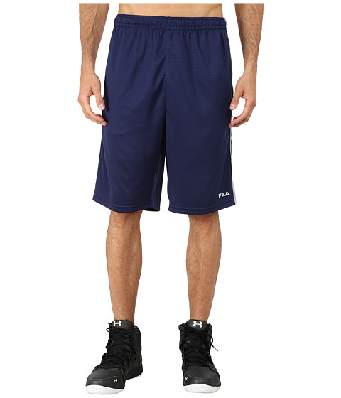 Fila - Brick Training Shorts (Navy Power/High Rise) Men