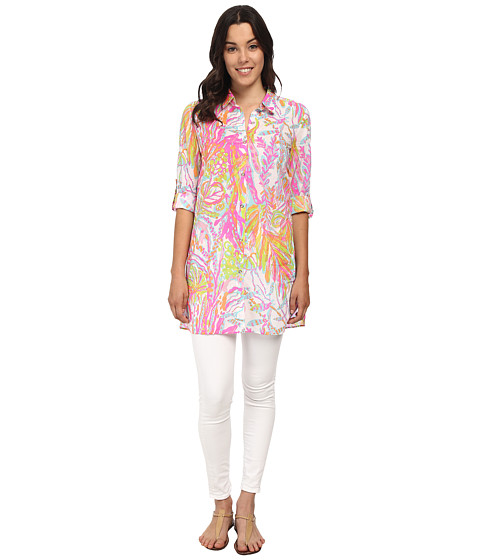 Lilly Pulitzer - Jupiter Island Cover Up (Resort White Scuba to Cuba) Women's Dress
