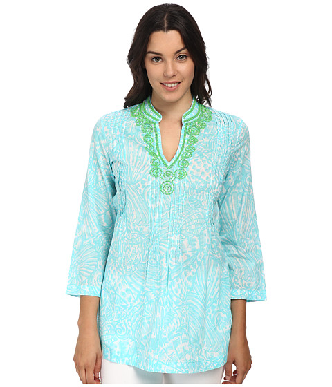 Lilly Pulitzer - Sarasota Tunic (Shorely Blue Sea Cups) Women's Blouse