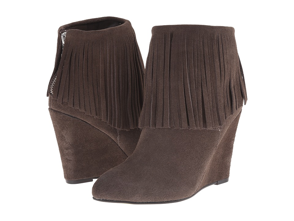 Chinese Laundry - Arctic Fringe Wedge Bootie (Grey) Women's Boots