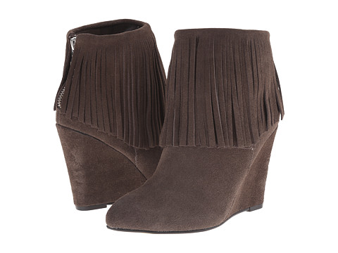 Chinese Laundry - Arctic Fringe Wedge Bootie (Grey) Women