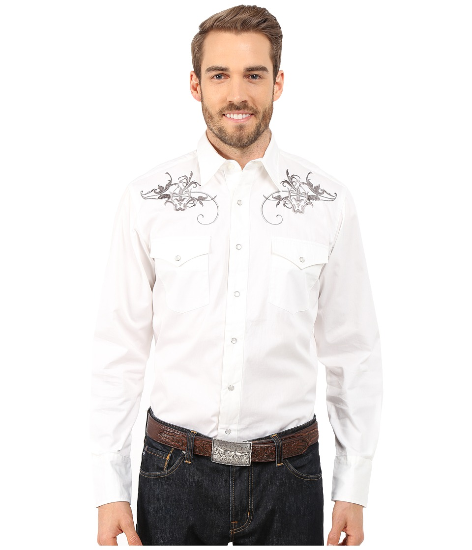 Roper - 0068 Ornate Swirl (White) Men's Clothing