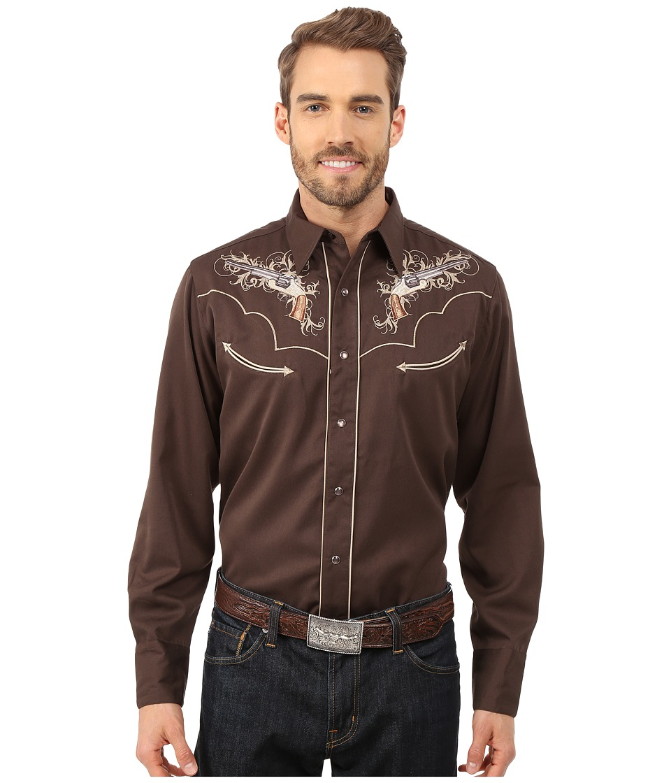 Roper - 0075 Six Shooter (Brown) Men's Long Sleeve Button Up