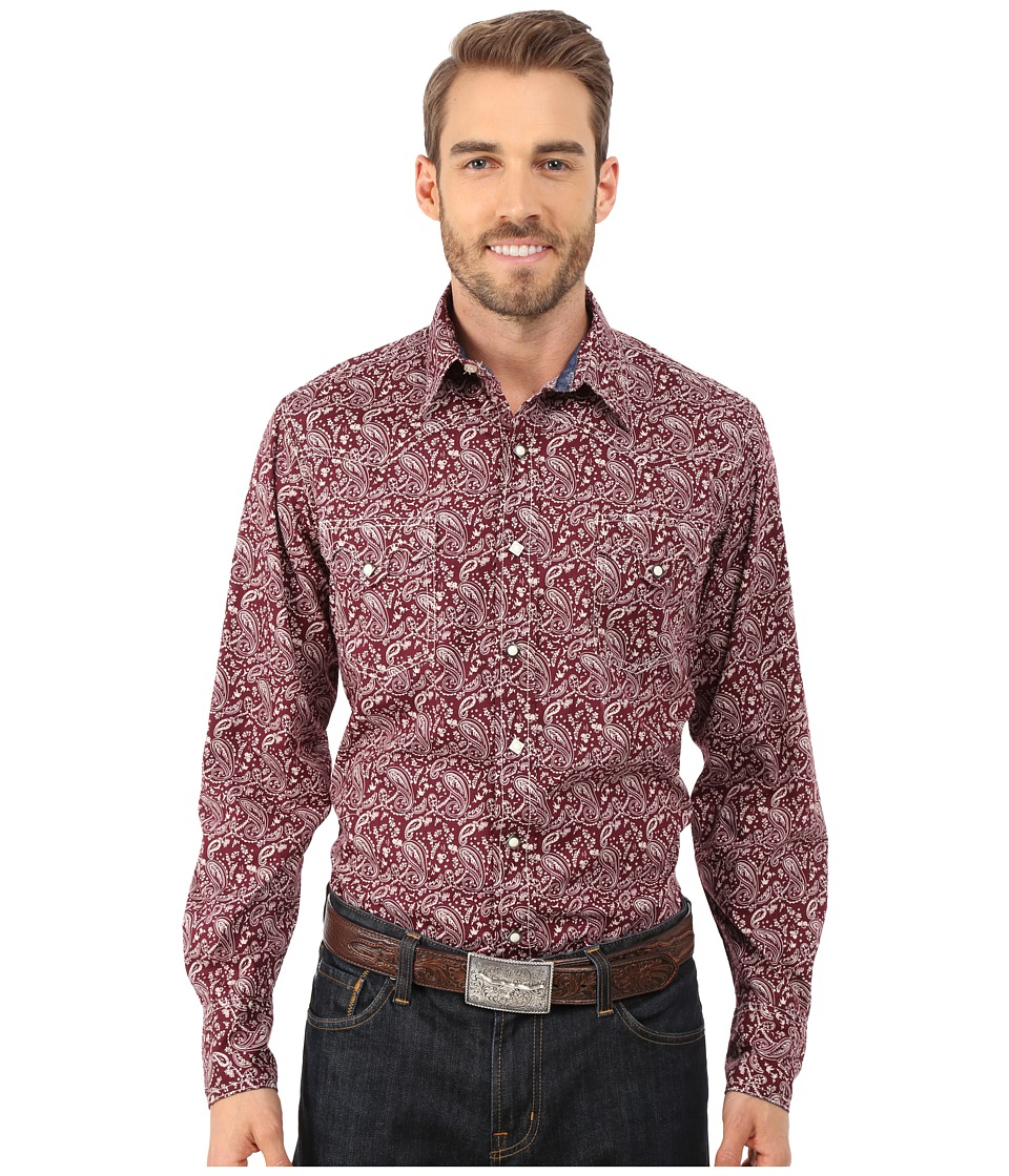 Roper - 0033 Red Hot Paisley (Red) Men's Clothing