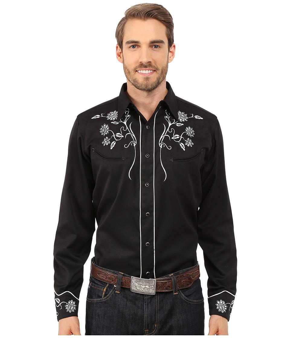 Roper - 0071 Vintage Floral (Black) Men's Long Sleeve Button Up