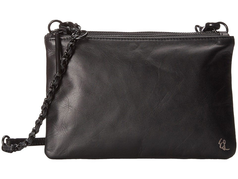 Elliott Lucca - Sacha Triple Compartment Clutch (Black) Clutch Handbags