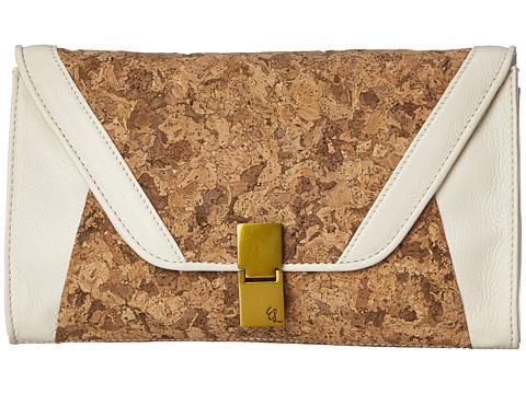 Elliott Lucca - Cordoba Flip Lock Clutch (Linen Cork) Clutch Handbags